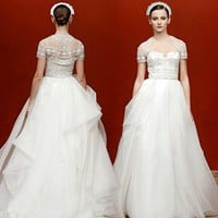 Reem Acra - Fall 2011 : Wedding Dresses Gallery : Brides