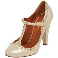 Eliza Character Shoe Dusty Gold Sparkly Leather
