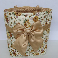 Gold Roses Diaper Bag Shopper Bag Japanese Tote Bag Big Bow Bag  Kawaii Bag