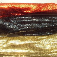 3pcs 3mm metallic cloth,metallic fabric,table runner 3 colors combination,
