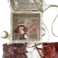 Decoupage, Face, Mask, Rose Petals, Heart, Apricot oil & soap gift box OOAK
