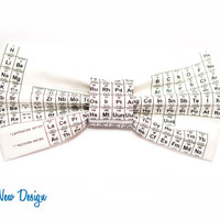 Black Periodic Table Bow Tie, with Adjustable Strap, mens bow ties, boys bowties, kids bow ties, sizes
