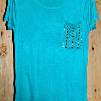 MAKE A STATEMENT TEE IN TEAL