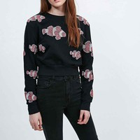 Vinti Andrews Clownfish Crop Jumper in Black - Urban Outfitters