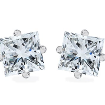 Princess Cut Cz Earrings