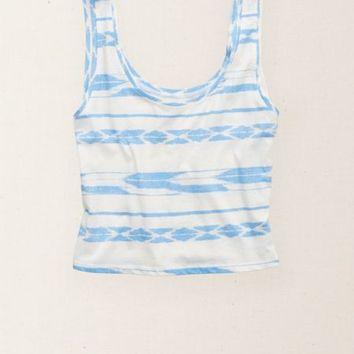 Aerie Women's Made In The Usa Cropped Tank (Crystal)