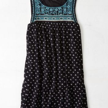 AEO Women's Embroidered Shift Dress