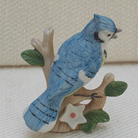 Lefton Blue Jay - Small Bird Figurine
