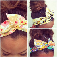 FREE SHIPPING - 3 for 24 Dollars - Dolly Bow Wire Headband