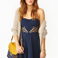 Lattice Bustier Dress
