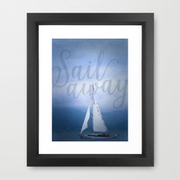 Sail Away Framed Art Print by Noonday Design