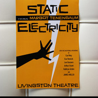"""The poster of Margot Tenenbaum's last play """"Static Electricity"""", inspired by Wes Anderson's the Royal Tenenbaums  [Great Birthday Gift!]"""