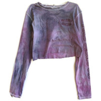 Long Sleeved Cropped Shirt Tie Dye Crop Top Long Sleeves Size Small