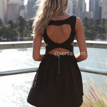Heart Cut Out Dress | Xenia Boutique
