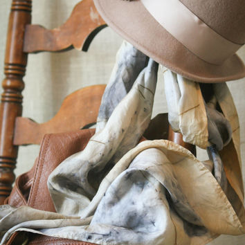 Gaitonde's Medium, eco friendly, hand dyed silk scarf, natural dyes, infinity style scarf, artisan, silk, scarf, accessory, wearable art