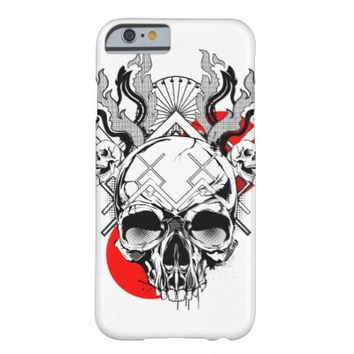 Skull iPhone 6, Barely There Case - Flames 1