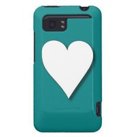 Teal Heart HTC Vivid / Raider 4G Cover