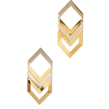 Cutout Chevron Drop Earrings