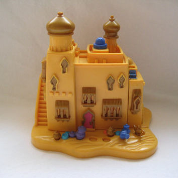 Vintage 1995 Disney Polly Pocket Aladdin Bluebird Agrabah Marketplace Compact Toy NO Figures