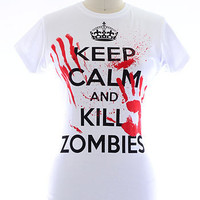 Keep Calm &amp; Kill Zombies Tee