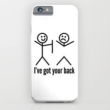 I'VE GOT YOUR BACK iPhone & iPod Case by CreativeAngel