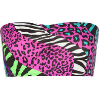 Neon Mixed Animal Bandeau   Bandeaus & Bralettes   Tillys