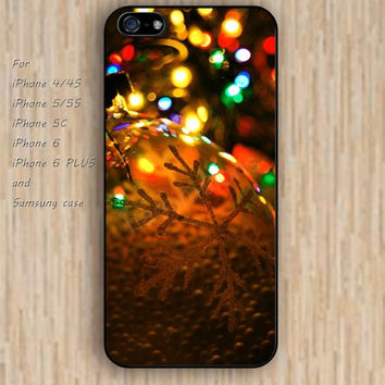 iPhone 6 case dream Christmas lights iphone case,ipod case,samsung galaxy case available plastic rubber case waterproof B145