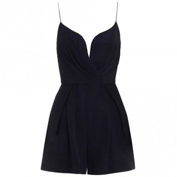 Silk Plunge Playsuit - The Latest