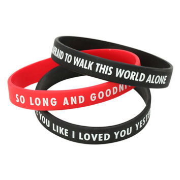 My Chemical Romance So Long And Goodnight Rubber Bracelet 3 Pack