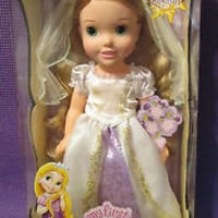 "My First Disney Princess 15"" Rapunzel's Wedding Dress Up Toddler Doll SHIPS FREE"