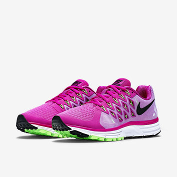 The Nike Air Zoom Vomero 9 Women's Running Shoe.