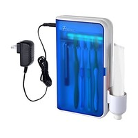 BriteLeafs UV Ultraviolet Family Toothbrush Sanitizer Sterilizer Cleaner - Triple sanitizing cycles per day