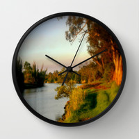 Banks of the Thompson River Wall Clock by Chris' Landscape Images Of Australia