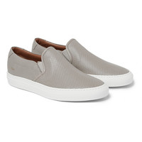 Common Projects - Perforated Leather Slip-On Sneakers | MR PORTER