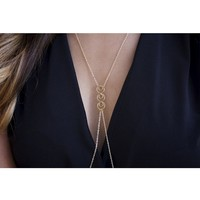 Trilogy Gold Fill Body Chain Necklace
