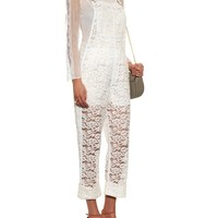 Lace dungarees