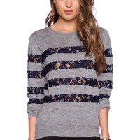 Candela Breeze Sweater in Grey & Navy