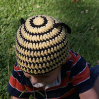 Made to Order: Handcrafted Crochet Yellow and Black Bumble Bee Hat for Baby, Child, Teen, Adult, Costume, Honeybee