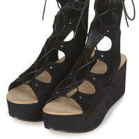WEBSTER Lace-Up Wedge Sandals - Topshop