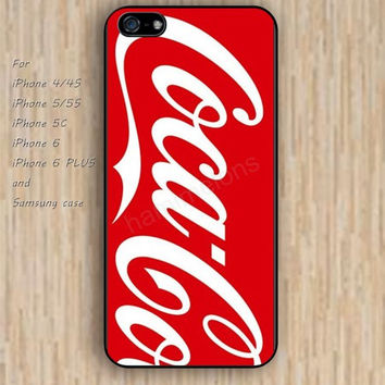 iPhone 5s 6 case colorful Red coke case iphone case,ipod case,samsung galaxy case available plastic rubber case waterproof B237