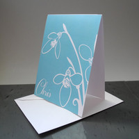 Blue Tulip Floral Personalized Stationery - Flower Stationery - Feminine Stationery