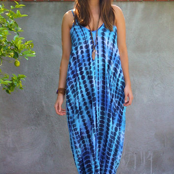 Underwater Maxi Dress- Blue