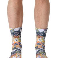 Galaxy Kitty Crew Socks