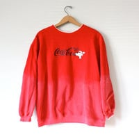 Vintage Coca Cola Ombre Sweatshirt