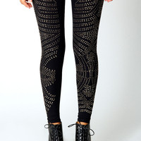 Jenny Side Panel Studded Leggings