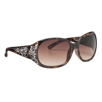 Etched Oversized Sunglasses