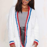 UNIF Commence Fuzzy Cardigan