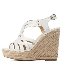 Strappy Slingback Espadrille Wedge Sandals by Charlotte Russe