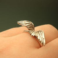 small wing ring by mypreciousstudio on Etsy