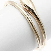 Cleopatra Rose Gold Snake Bangle Bracelet